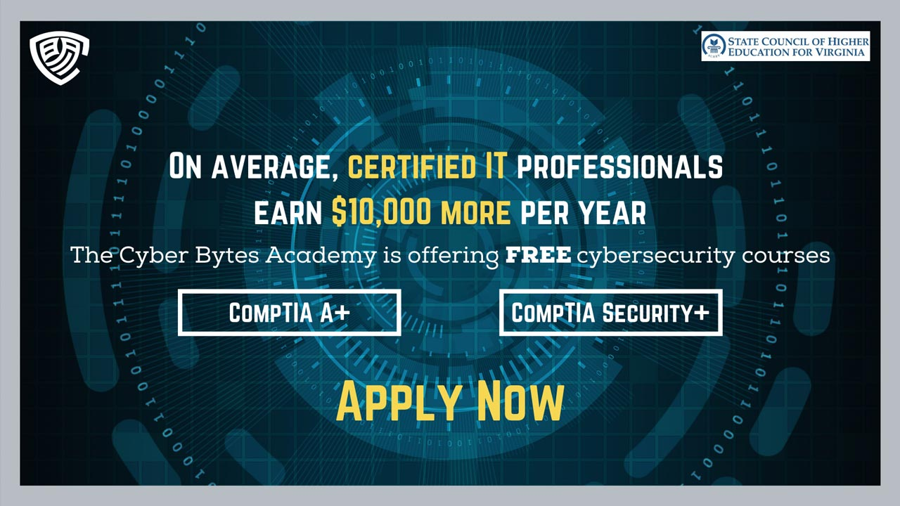 The Cyber Bytes Academy is offering Free cyber security courese, apply now